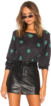 Autumn Cashmere Polk Dot Crew Neck Sweater