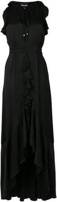 Just Cavalli ruffle trim maxi dress