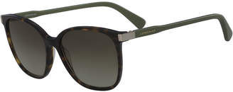 Longchamp Square High-Temple Sunglasses