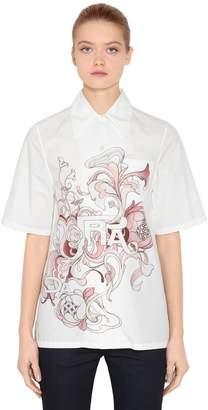 Prada Liberty Printed Cotton Poplin Shirt