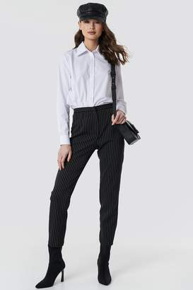 NA-KD Pinstriped Suit Pants Black