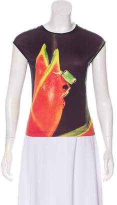 Plein Sud Jeanius Printed Sleeveless Top