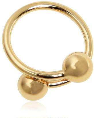 J.W.Anderson Double Ball Plated Brass Ring