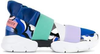 Emilio Pucci colour block slip-on sneakers