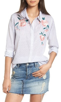 Women's Rails Nevin Embroidered Shirt $178 thestylecure.com
