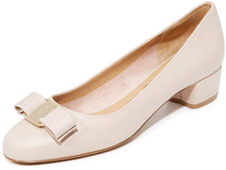 Salvatore Ferragamo Vara Low Heel Pumps $560 thestylecure.com