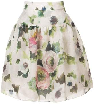 Marchesa floral-print skirt