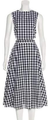Tanya Taylor Gingham Midi Dress
