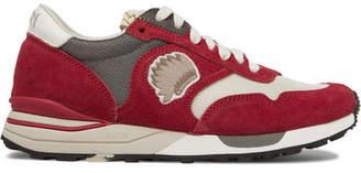 Visvim Roland Suede and Mesh Sneakers - Men - Red