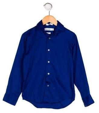 Calvin Klein Boys' Button-Up Collar Shirt