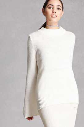 FOREVER 21+ High-Neck Bell-Sleeved Sweater $58 thestylecure.com
