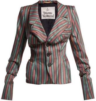 Vivienne Westwood Striped Sateen Jacket - Womens - Multi