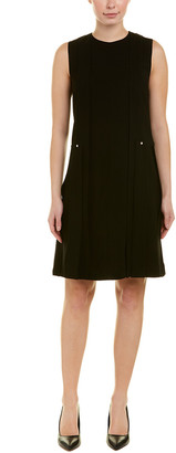 Lafayette 148 New York Pleated Shift Dress