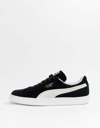 4885a1dfd68 Mens Black Suede Puma Trainers - ShopStyle UK
