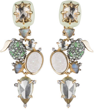 Alexis Bittar Crystal Encrusted Lime Cluster Clip Earring
