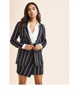 Dynamite Striped Boyfriend Blazer - FINAL SALE NAVY/WHITE STRIPES