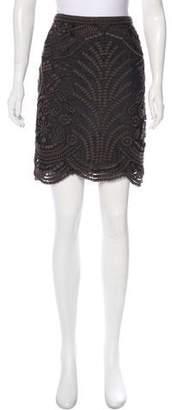 Yoana Baraschi Embroidered Mini Skirt