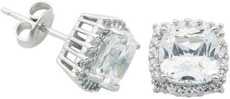 JCPenney FINE JEWELRY DiamonArt Cushion-Cut Cubic Zirconia Sterling Silver Stud Earrings