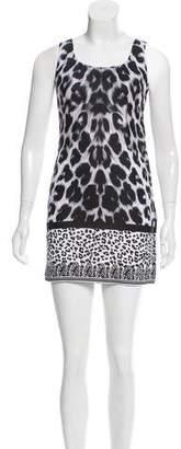 Versus Sleeveless Leopard Print Dress