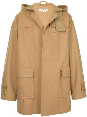 Marni hooded classic coat