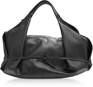 3.1 Phillip Lim Black Leather Luna Medium Slouchy Hobo Bag