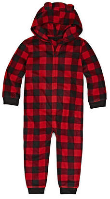 Co North Pole Trading Company Plaid Bear 1 Piece Pajama - Unisex Toddler