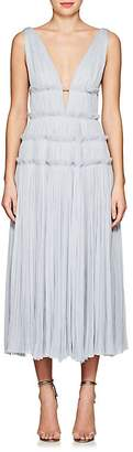 J. Mendel Women's Silk Plissé Midi-Dress