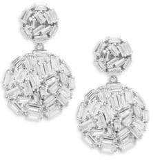 Saks Fifth Avenue Crystal and Sterling Silver Ball Drop Earrings