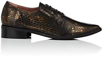 Barneys New York WOMEN'S SNAKESKIN-STAMPED LEATHER OXFORDS