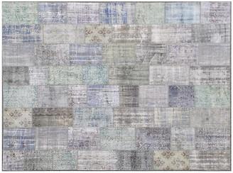 "One Kings Lane Vintage Overdyed Patchwork Carpet - 10'2"" x 13'4"" - Keivan Woven Arts"