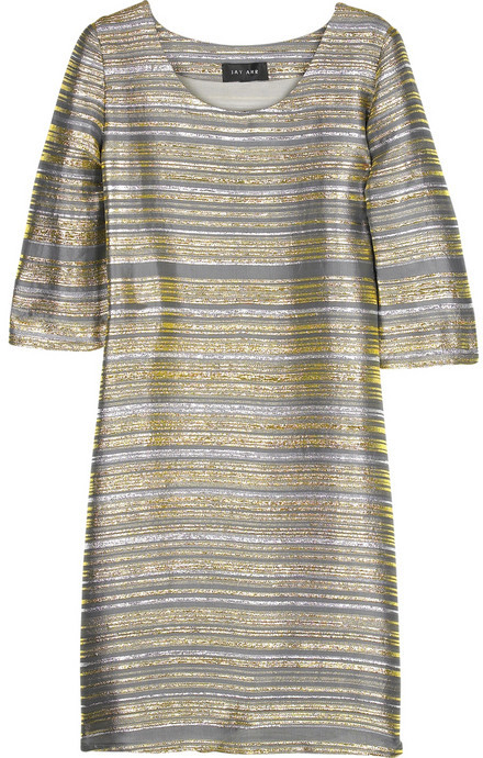 Jay Ahr Striped Lurex tunic dress