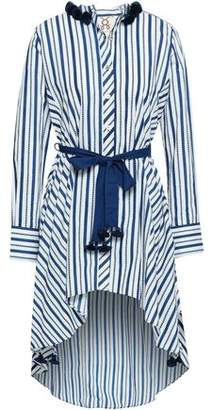 Figue Rayna Belted Printed Cotton-poplin Tunic