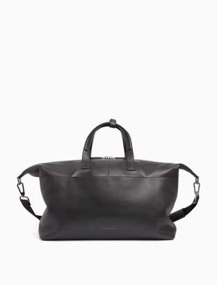 Calvin Klein leather weekender bag