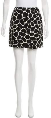 Paule Ka Printed Mini Skirt