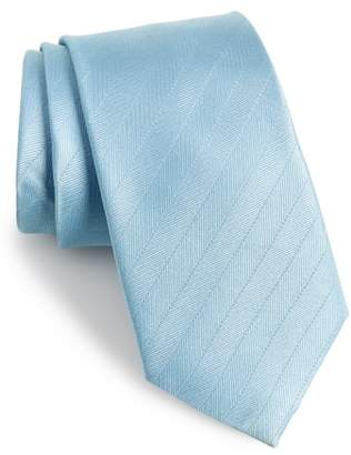 The Tie Bar Herringbone Silk Tie