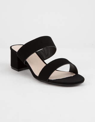 Qupid Katz Black Womens Heeled Sandals