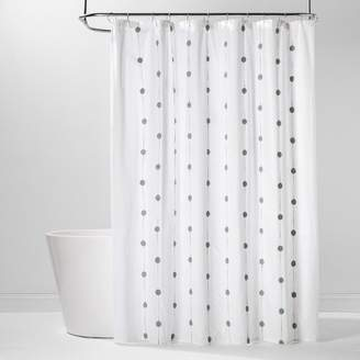 9c70b21c98 Project 62 Geo Embroidered Shower Curtain White/Green - Project 62