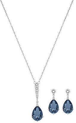 Swarovski Vintage Crystal Pendant Necklace and Drop Earrings Set $169 thestylecure.com