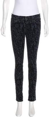 J Brand Mid-Rise Patterned Pants