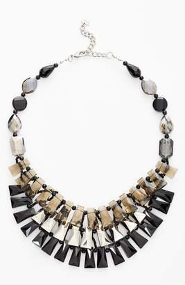 Nakamol Design Tiered Crystal Bib Necklace