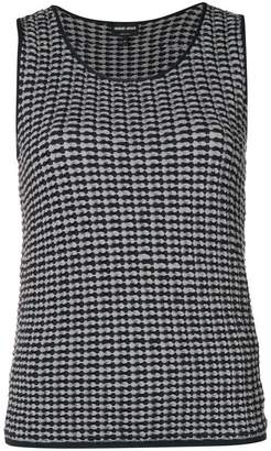 Giorgio Armani (ジョルジョ アルマーニ) - Giorgio Armani embroidered sleeveless sweater