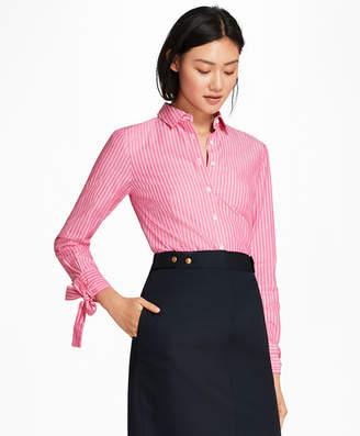 7b4407691a5d2 Free Standard Shipping at Brooks Brothers · Brooks Brothers Bow-Cuff  Striped Cotton Poplin Shirt