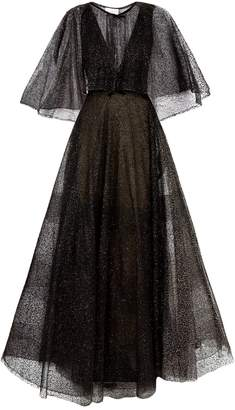 Marchesa Plunge Neck Ball Gown