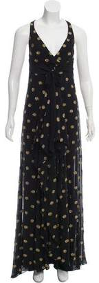 Temperley London Silk-Blend Polka Dot Print Dress