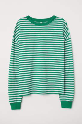 H&M Striped Jersey Top - Green