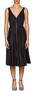 Prada Women's Pleated Tech-Taffeta A-Line Dress - Black