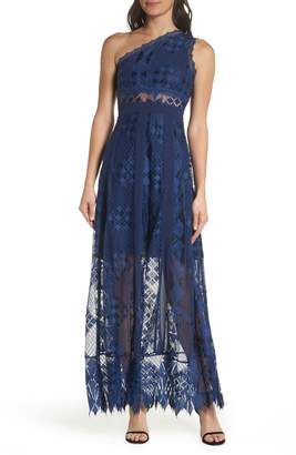 Foxiedox Juliet One-Shoulder Lace Gown