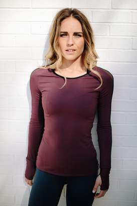 Mulberry Fit Atelier Bolt Running Top In