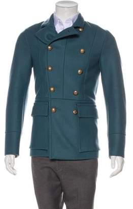 Gucci Wool Double-Breasted Peacoat w/ Tags