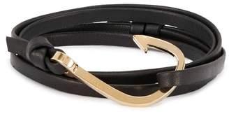 Miansai Black Leather Wrap Bracelet
